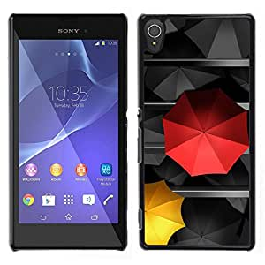 TopCaseStore / la caja del caucho duro de la cubierta de protección de la piel - Umbrella Love Special Different Love - Sony Xperia T3