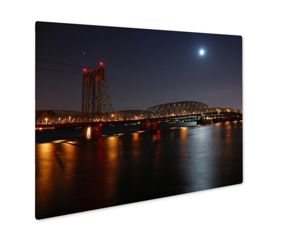 ashley gicleeコロンビア川ブリッジ 壁アート写真印刷メタルのパネル
