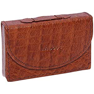 Laveri Genuine Leather Credit Card Holder Wallet Top Handle Multiple Card Holder for Unisex - Leather, Brown