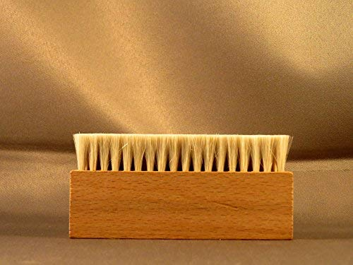 Wooden 3 Three Row Goat Hair Anti Static Record Cleaning Brush Cleaner