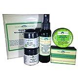 Cheap Skin Surge All Natural Bamboo Activated Charcoal Trial Size Detox Kit- Tea Tree Oil, Vitamin C, Retinol, Aloe Vera, Amino Acids-Soap, 1 Microfiber Cloth, Toner, 2 Gel Moisturizers FREE CLAY MASK