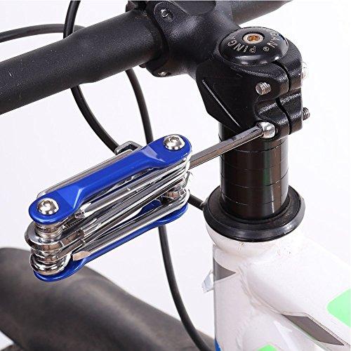 Hltd Multi Function Bike Bicycle Repair Tool Kit Folding Cycling Maintenance 11 in 1 Multi Tool Socket Wrench Hex Keys Screwdriver Set … by Hltd (Image #5)
