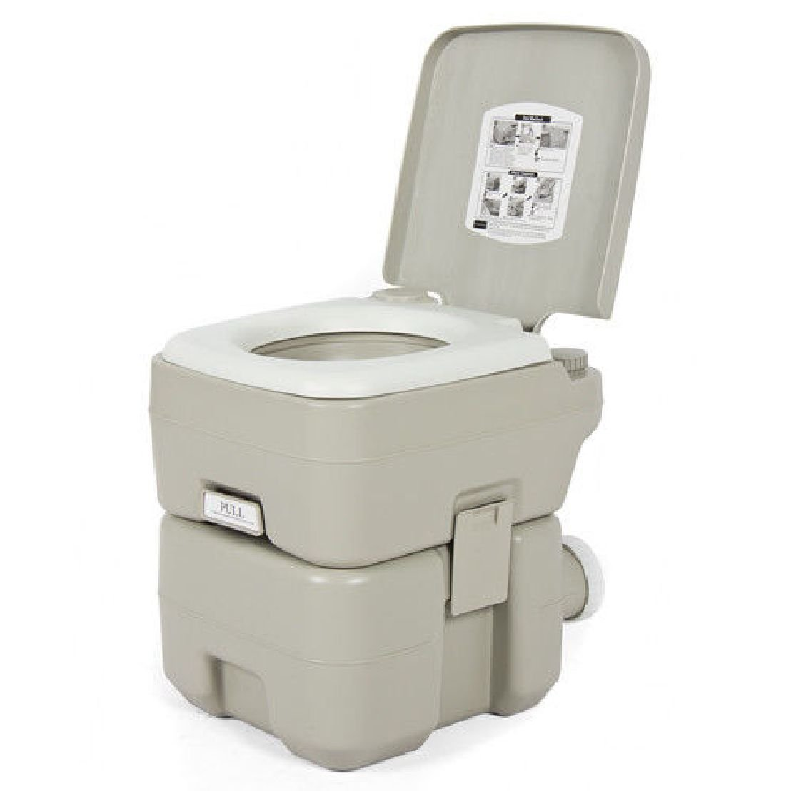 Portable Toilet 5 Gallon Dual Spray Jets Travel Outdoor Camping Hiking Toilet by BEC