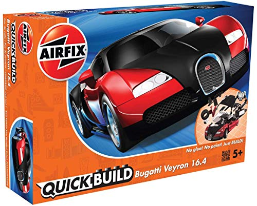 Airfix J6020 Quick Build Bugatti Veyron Model, Black/Red