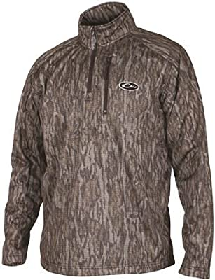 Drake Realtree Max5 Camo BreathLite Quarter-Zip Fleece Pullover