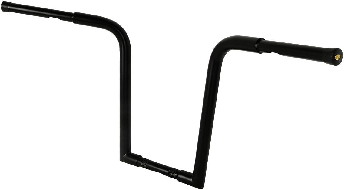 TCMT Black Ape Hangers Bar FAT 16 Rise 8 Pullback Handlebar Fits For Harley FLST FXST