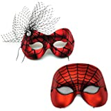 Entangled-Spiderweb Red Masquerade Masks for a Couple Review