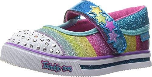 SKECHERS KIDS Baby Girl's Chit Chat 10769N Lights (Toddler/Little Kid) Turquoise/Multi Shoe