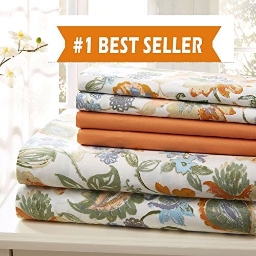 Traditional Home BED SHEET COTTON 6 PIECE SHEET SET EXTRA SOFT WRINKLE FREE (QUEEN)
