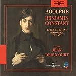 Adolphe : enregistrement historique de 1955 | Benjamin Constant