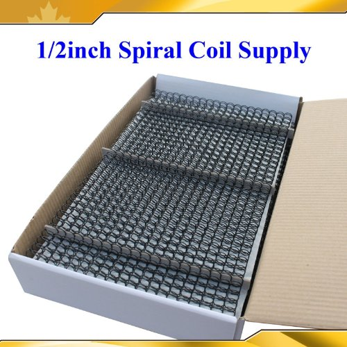 Wire Binding Coil Machines (Wire Coil Supply 1/2inch 12.7mm 100sheets For Binder Machine 81-90 Pages Note)