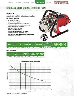 Red Lion RJSE-75SS 115V 3/4 HP Stainless Steel Sprinkler Utility Pump
