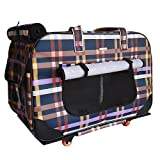 Dog Outdoor Four-Wheeled Pet Bag Cat Stroller Breathable Carrier Cat Dog Travel Pet Package Suitable Pet Cats Dogs Under 22 Pounds