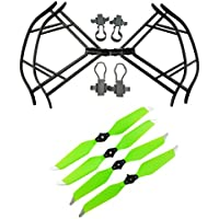 Upgraded Propellers for DJI Mavic Pro 8331 8331F Low-Noise Quick-release Folding Propellers Prop Guard Bumper Rc Quadcopter Spare Part Set (Black-Green)