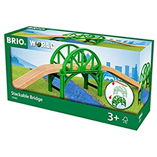 BRIO World Stackable Bridge for Kids Age 3 Years and Up, Compatible with All BRIO Train Sets