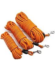 "MayPaw 15FT/30FT/50FT Long Rope Training Dog Leash- Heavy Duty Nylon Recall Pet Tracking Line- for Small Medium Outside Training Play Camping or Backyard (50ft*1/3"", Orange)"