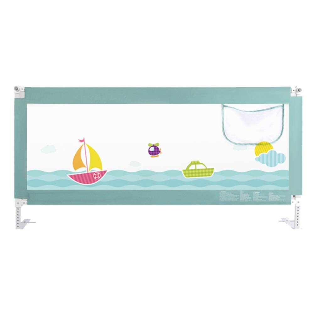 LHA ベッドガードフェンス 幼児および子供の反落下ベッドのガードレールのバッフルの縦の持ち上がる反落下のベッドの塀-150cm、180cm、200cm (色 : 緑, サイズ さいず : L-200cm) L-200cm 緑 B07NPSNXG4
