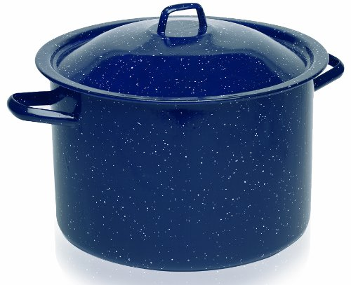 IMUSA USA C20666-1063310W Speckled Stock Pot with Lid 6-Quar