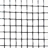 Industrial Netting OV1581-168x200 Heavy Duty Polypropylene Bird Garden Net, 1/2'' Mesh, 200' Long x 14' Width, Black, 19'' Width, 50'' Length