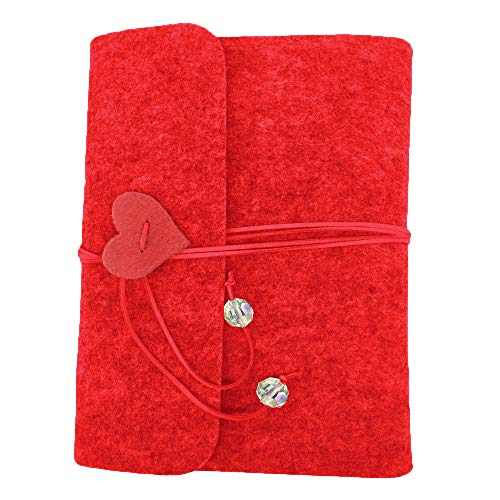 lt Cover Photo Scrapbook Memory Book Hand Made DIY Albums with 30 Sheets (Red, Medium) ()
