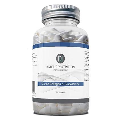 Colágeno marino 800 mg & Glucosamina 1000 mg, 90 comprimidos ...