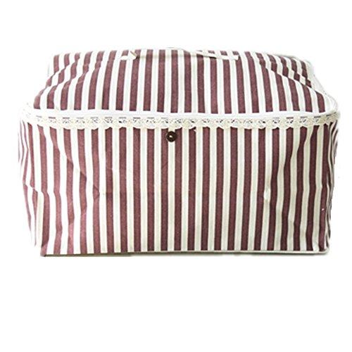 ShuZ Linen Clothes Storage Bag, Folding Organizer Bag for Comforters, Blanket, Clothes Storage. Waterproof, Dustproof, Moistureproof with Zipper and Handles