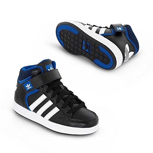 adidas Varial Mid J, Zapatillas de Skateboarding para Niños Negro (Negbas / Ftwbla / Reauni)