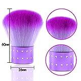ANGNYA Nail Art Dust Clean Brush Soft Nail Cleaning Brush For Acrylic & UV Nail Gel Dust Power Remover Cleaner Brush Nail Art Tools