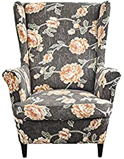Wingback Chair Slipcover 2-Piece Stretch Wingback Chair Sofa Slipcover Armchair Cover Printed Furniture Protector Couch Soft with Elastic Bottom for Living Room