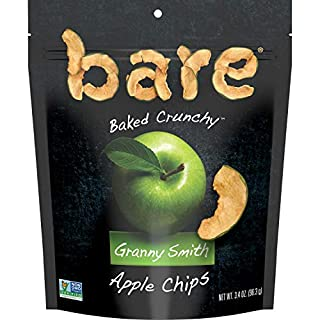 Bare Natural Apple Chips, Granny Smith, Gluten Free + Baked, Multi Serve Bag - 3.4 Oz (Pack of 6)