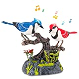Liberty Imports Singing & Chirping Birds - Realistic Sounds and Movements (Blue Jays)