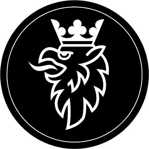 - Saab Black White Griffen Replacement Decal Sticker 8 Piece Set