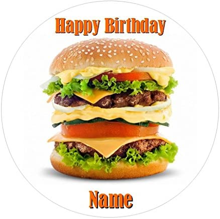 Groovy Personalised Burger Funny Birthday Cake Decoration Topper Amazon Funny Birthday Cards Online Inifofree Goldxyz