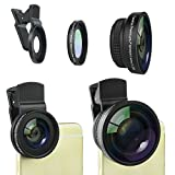 Universal 2in1 Camera Lens Kit for iPhone, iPad, Samsung Galaxy and other Smartphones or Tablets - Premium Quality Fish Eye and Macro Lens - Metal Housing and Glass Lenses
