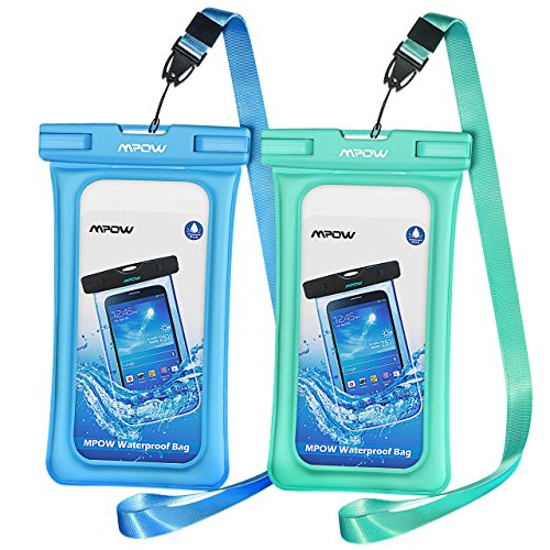 Mpow Waterproof Phone Pouch Floating, IPX8 Universal Waterproof Case Underwater Dry Bag Compatible for iPhone X/8/8plus/7/7plus/6s/6/6s plus Galaxy s9/s8 Google Pixel HTC up to 6.0