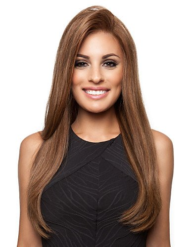 Wigs have an attractive convenience fashion The New Animation Carved Browm Long Straight Hair Wig
