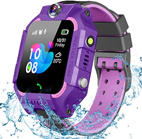 GBD Smart Watch for Kids-IP67 Waterproof Smartwatch Phone with Call Games SOS Alarm Clock 12/24 Hr,Kids Digital Wrist Watch Stopwatch for Children Boys Girls Age 3-12 Learning Toys (Purple)