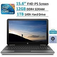 HP Pavilion 15.6 Full HD IPS (1920 x 1080) WLED-backlit Laptop, Intel Core i7-6500U, 12GB RAM, 1TB HDD, DVD +/- RW, B&O Play, Up to 9 hours Battery life, Backlit Keyboard, Windows 10