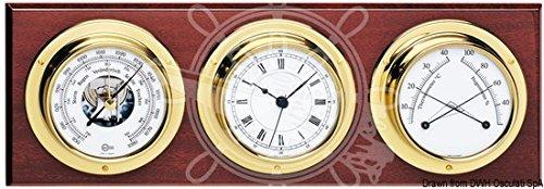 Osculati Barigo Barómetro + termómetro e higrómetro + reloj 370x 130mm