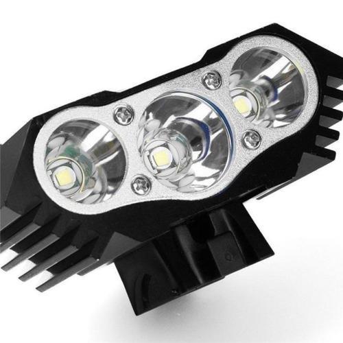 Luz Frontal Bici luz ligera que acampa 7500 Lumen 3 LED negro Modos impermeables LED frontal para manillar de bicicleta paquete L/ámpara de la bici del b/úho cargador de la bater/ía