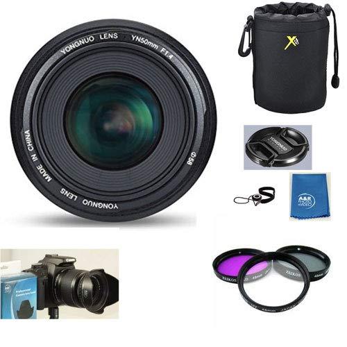 YN50mm 50mm 50mm F1.4 標準プライムレンズキット ニコン デジタル一眼レフカメラ用 ニコン フィルター3枚セット ケース フード B07GY282L2 クリーニングクロス付き B07GY282L2, c-watch company:041f351e --- ijpba.info