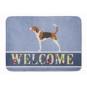 Caroline's Treasures BB8271RUG American Foxhound Welcome Machine Washable Memory Foam Mat, 19 X 27, Multicolor 3