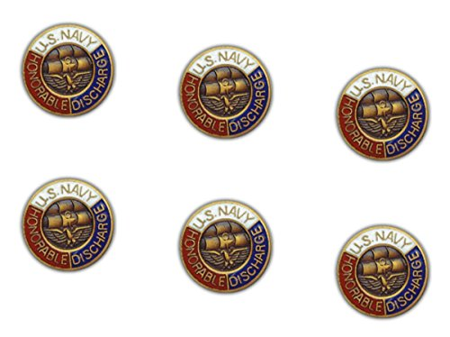MilitaryBest USN Honorable Discharge Lapel Pin 6 Pack