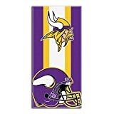 The Northwest Company Officially Licensed NFL Minnesota Vikings Zone Read Beach Towel, 30″ x 60″