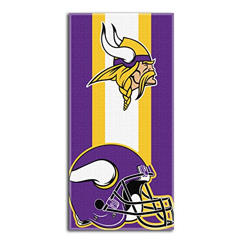 - The Northwest Company NFL Minnesota Vikings Zone Read Beach Towel, Purple, 30'' x 60''