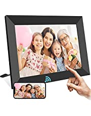 TEKXDD Digital Photo Frame, 10.1 Inch Smart WiFi Cloud Digital Picture Frame with FHD IPS LCD Touch Screen Display, 16GB Storage, Auto-Rotate, Share Photos and Videos Instantly via Frameo App from Anywhere - Black