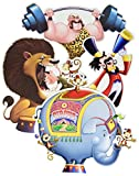 Beistle 54338 4-Pack Circus Cutouts, 14-Inch
