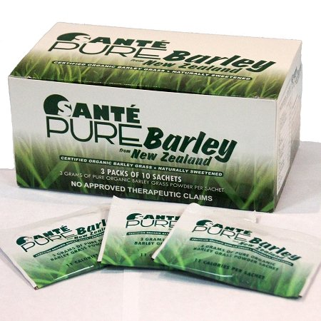 3 Boxes of Sante Pure Barley New Zealand Blend with Stevia - Large Box 30 Sachets Total 90 grams by Sante Barley