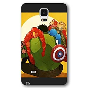 TOPPEST Customized Marvel Series Case for Samsung Galaxy Note 4, Marvel Comic Hero Hulk Samsung Galaxy Note 4 Case, Only Fit for Samsung Galaxy Note 4 (Black Frosted Case)