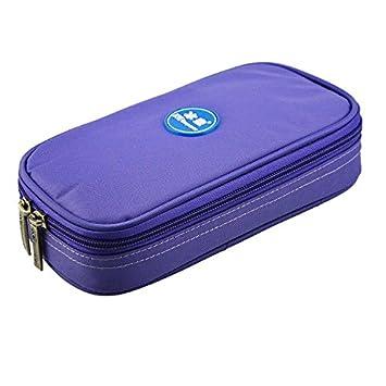 Bolsa refrigeradora portátil de insulina, incluye 4 refrigerantes, muestra la temperatura, morado